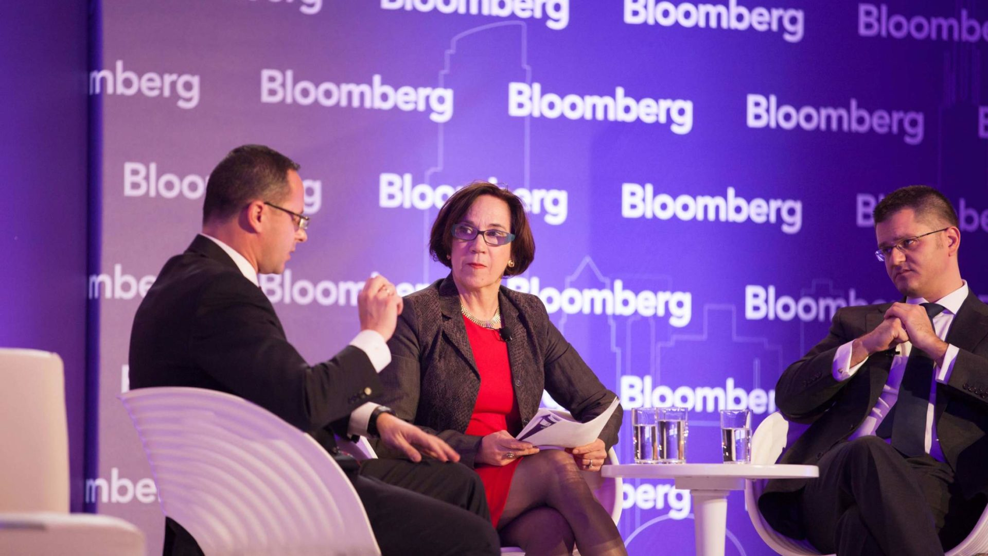 Bloomberg interviewer and guest
