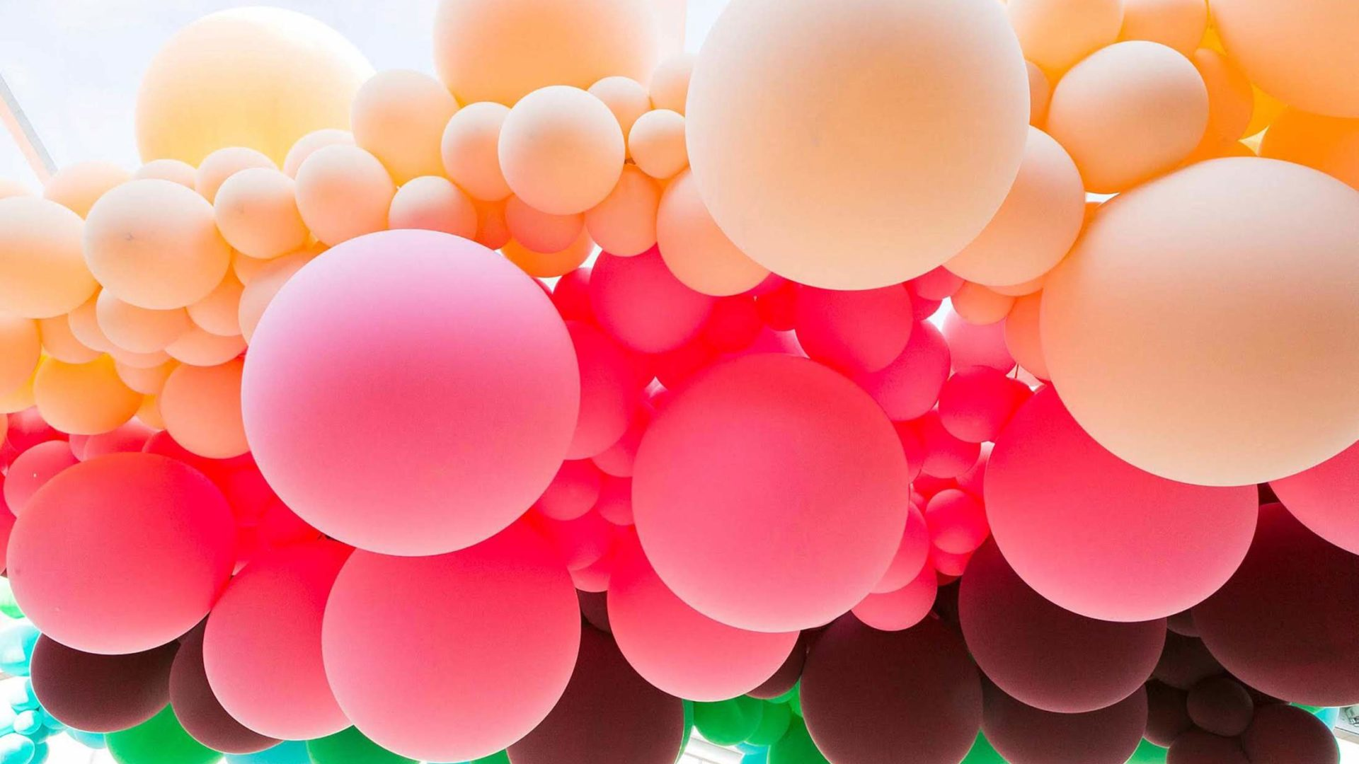 Large colorful balloons