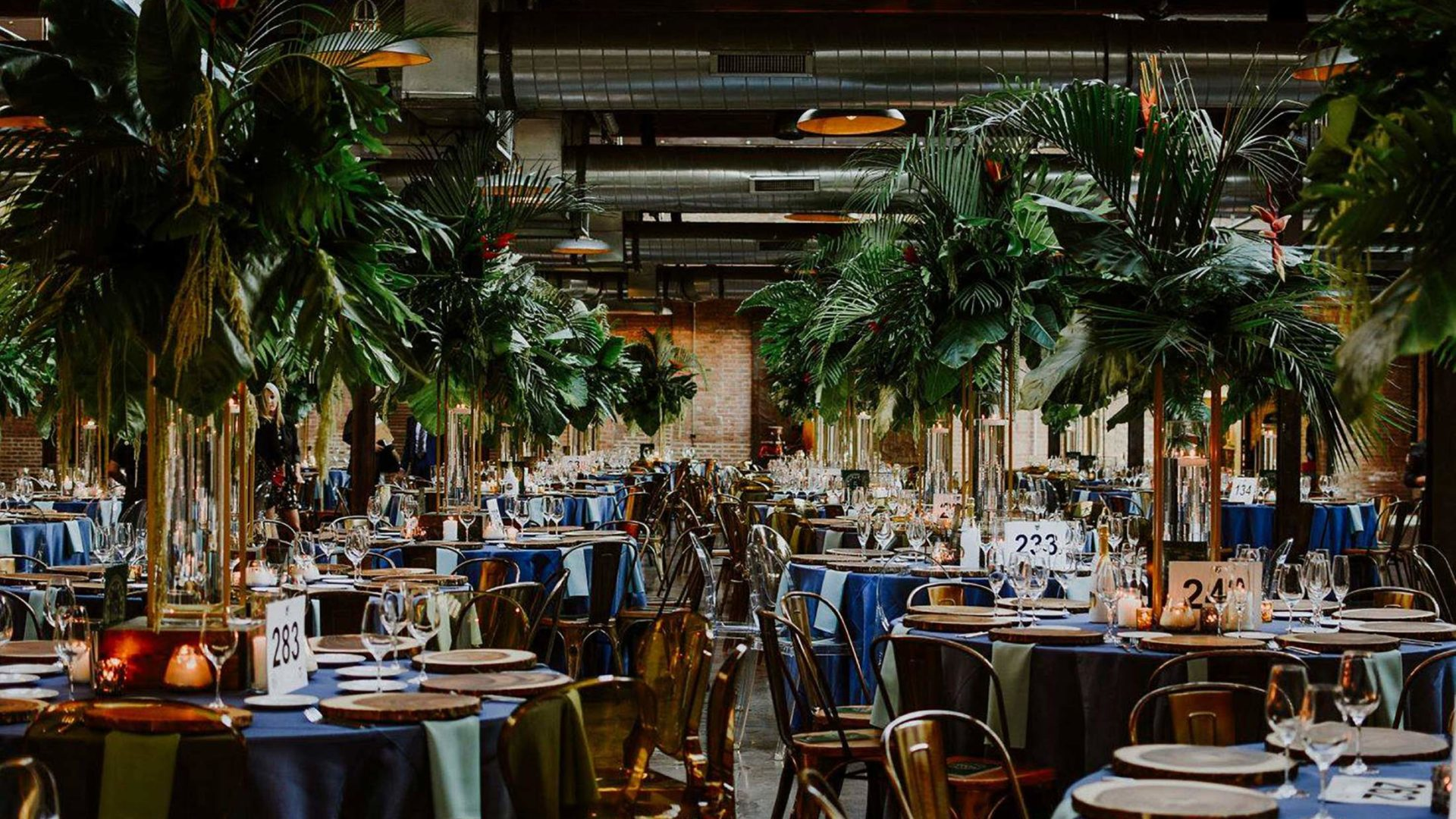 Tables for event with large trees